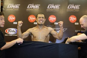 Ecstatic Eric Kelly, after making weight at One FC Return of Warriors