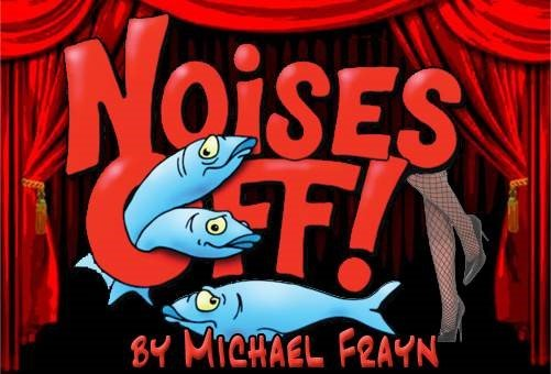Image with text: Noises Off! by Michael Frayn