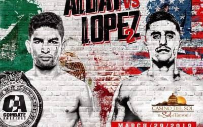 Combate Americas Fight Card   Alday vs Lopez 2