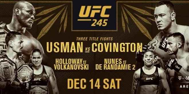 UFC 245 Usman vs Covington Live Stream