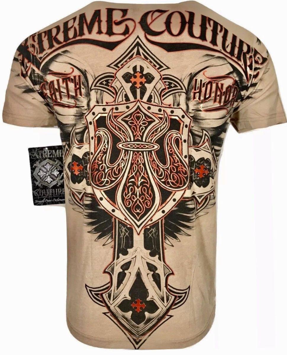 Xtreme Couture AFFLICTION Men T-Shirt ROCKET Flag Tattoo Biker USA UFC M-4XL $40