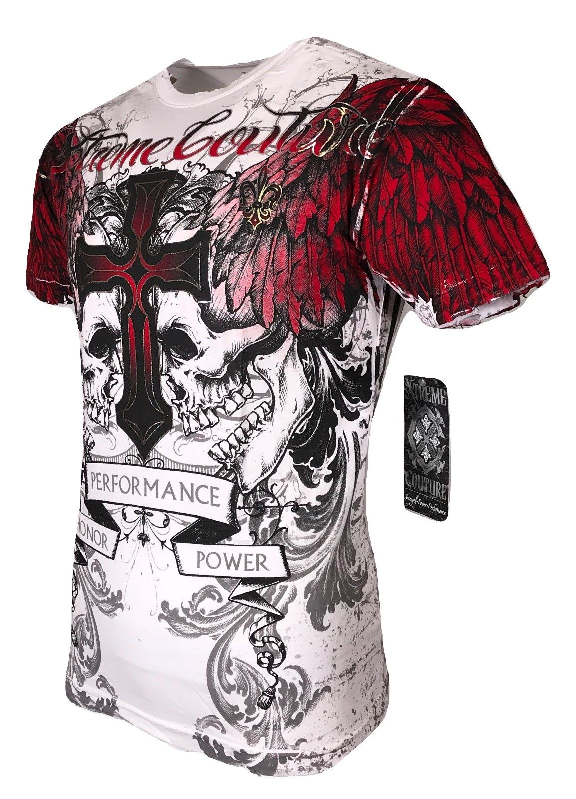 1XTREME COUTURE by AFFLICTION Men T-Shirt RACER GLORY Biker MMA UFC M-4X $40
