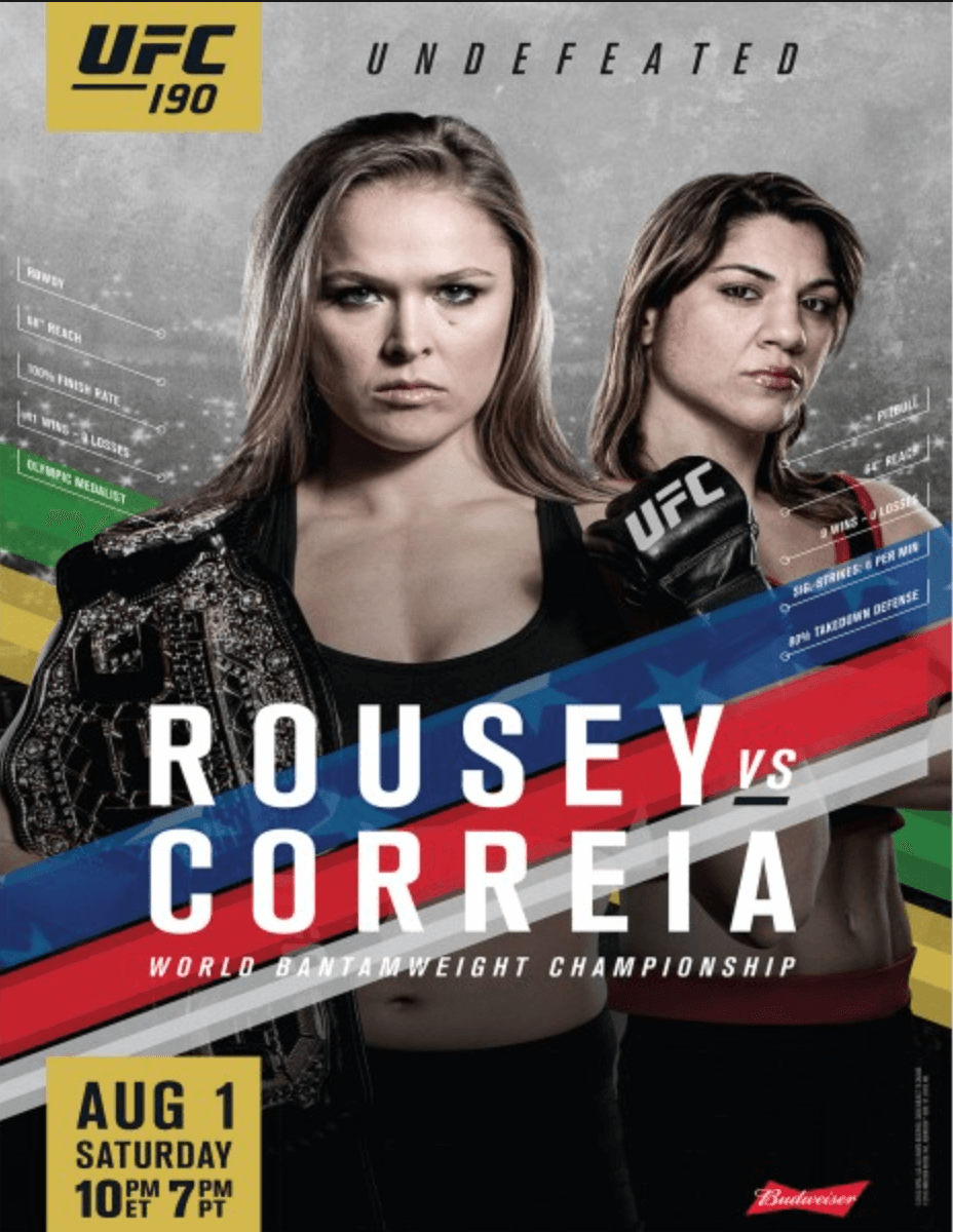 Ufc 190 Live Results Penick S Round By Round Report For Rousey Vs Correia Event Mmatorch