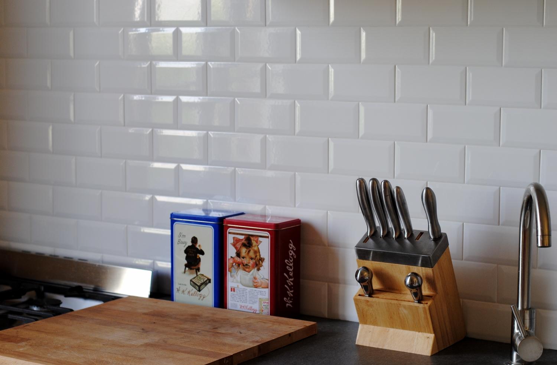 Pose Carrelage Metro Cuisine | Faïence Mur Blanc Métro Carrare L 10 ...