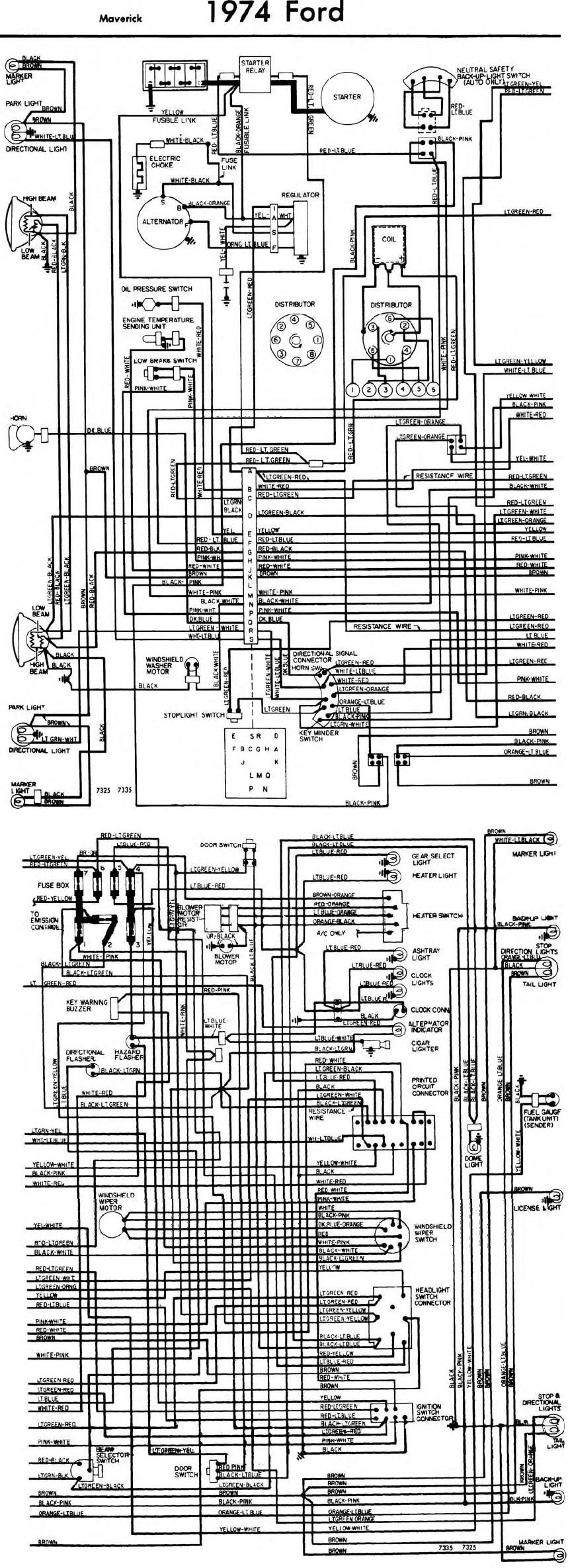 ford maverick starter wiring wiring diagram third level 1979 ford 302 distributor wiring diagram 1977 ford maverick wiring diagram [ 859 x 2369 Pixel ]