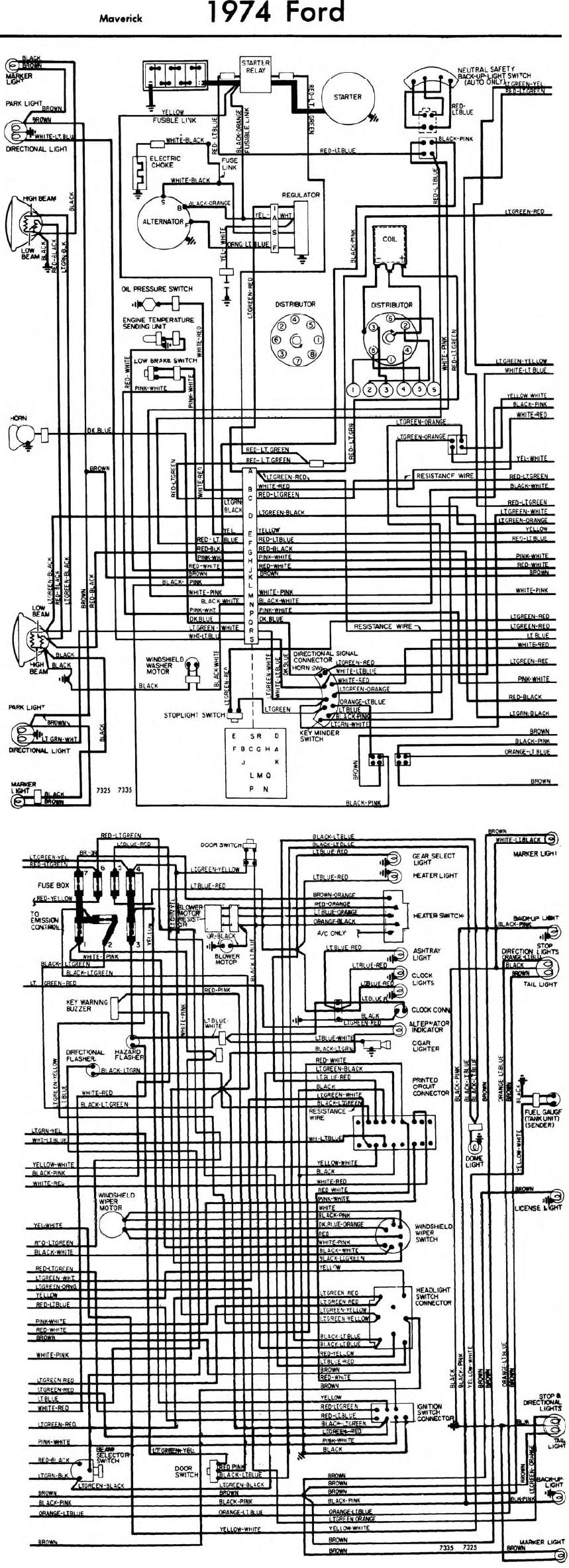 small resolution of ford maverick starter wiring wiring diagram third level 1979 ford 302 distributor wiring diagram 1977 ford maverick wiring diagram