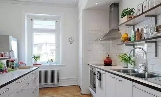off white kitchen cabinets luxury outdoor kitchens 白色厨柜 小size墙砖 北欧风厨房 实创装饰集团官方网站