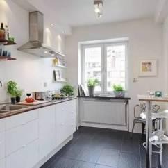 White Kitchen Cabinets Sink With Cabinet 白色厨柜 小size墙砖 北欧风厨房 实创装饰集团官方网站 狭长型小厨房 内置餐厅的装修 最适合一字型厨柜来一展身手了 简易的小吧台设计在角落里 很适合浪漫两人行 白色的厨柜和黑色的地砖在色彩上形成了很大的对比 和全