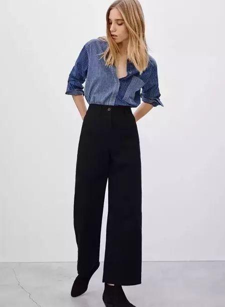 襯衫+闊腿褲:最簡約顯氣質的搭配。讓你時髦沒話說!   wechat中文網- 時尚
