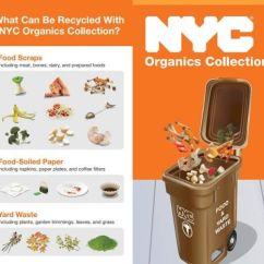 Kitchen Compost Container Corner Sink Cabinet 10月2日起 纽约市清洁局有机食物回收项目服务organic Food 居民平常应将食物废料收放在厨房容器里 有机的东西应倒入较大的棕色垃圾桶并盖住锁上 放置在路边 等待每周一次的收集 这些回收的垃圾将被转化成堆肥 与再生能源