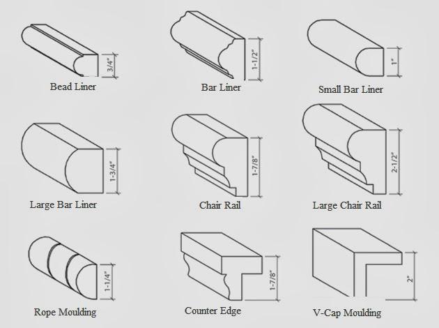 molding types bar rail molding commercial elephant bar top