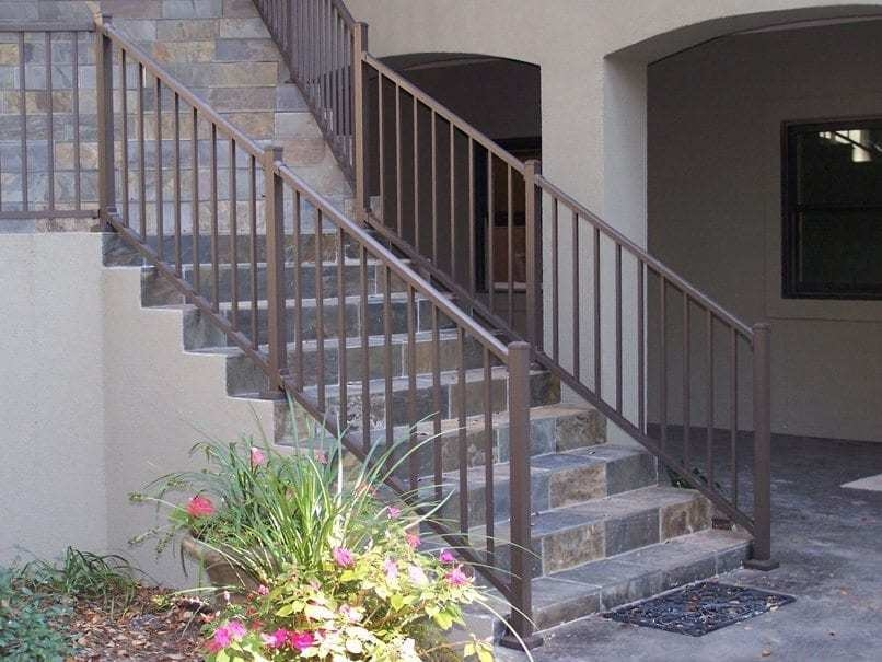 Tuscany C10 Railing 42 X8 Stair Section Mmc   Stair Posts And Spindles   Landing   Natural Hardwood   Rectangular   Traditional   Wood