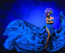 Blue Dress Darker Blue