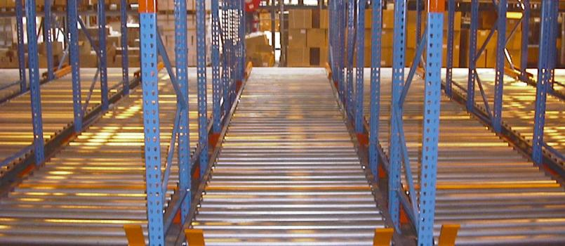 Flow Racks and Pallets Live Storage