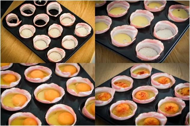 mix pieczone jajka
