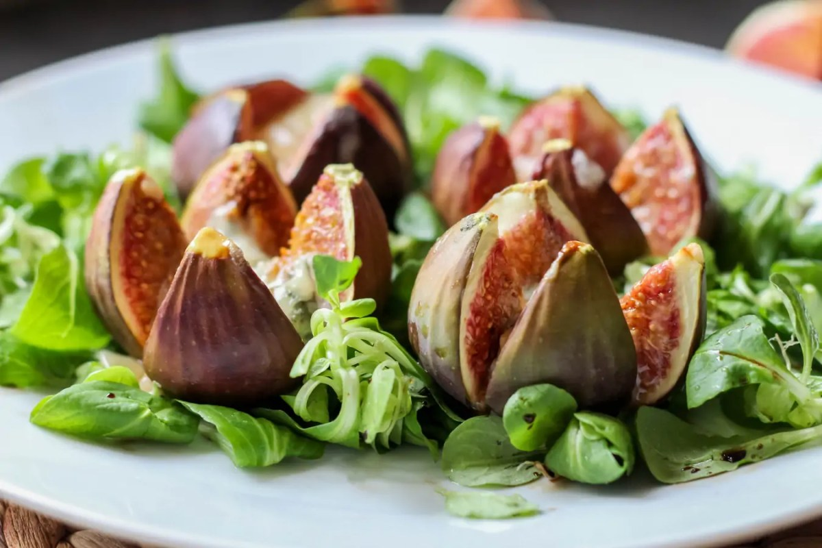 Pieczone figi z serem gorgonzola
