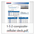 """1 1/2"""" Cellular Deck Tables and Load-Span Resources Guide"""