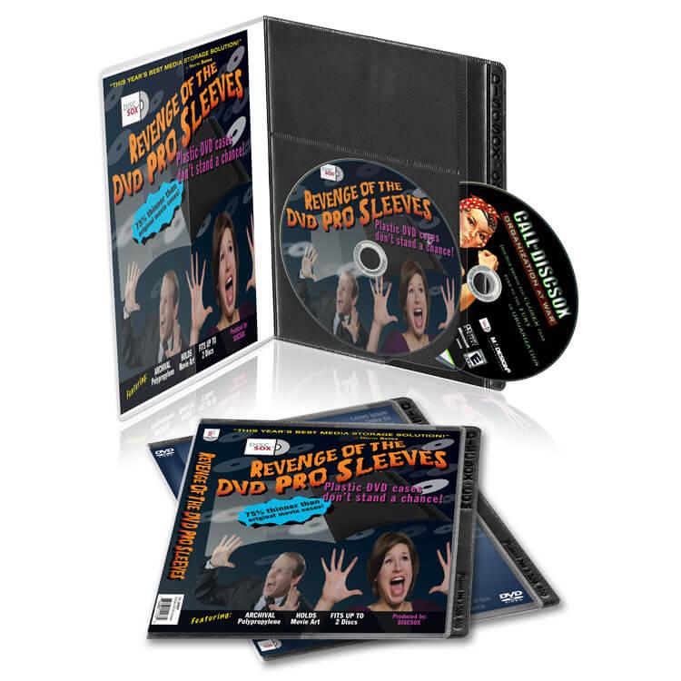 CD DVD Bluray Media Storage Sleeves