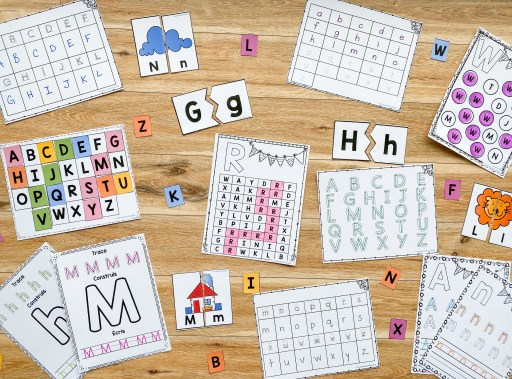 Here are my alphabet resources for kindergarten that are great to send home during distance learning. They are a great selection of worksheets.
