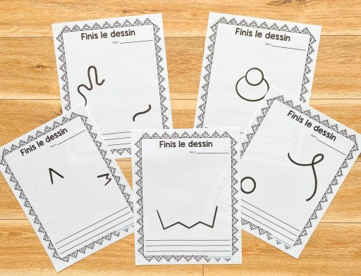 Finish the drawing activity. First day of school activity