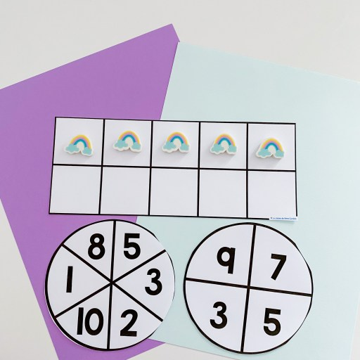 Math spinners and 10-frames