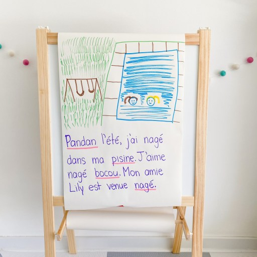 French Narrative Writing teacher exemplar.