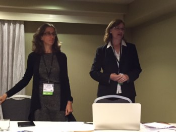 Charlene Simmons from The University of Tennessee-Chattanooga, and Amy Jo Coffey from the University of Florida, host the 2014-2015 MMEE members meeting.