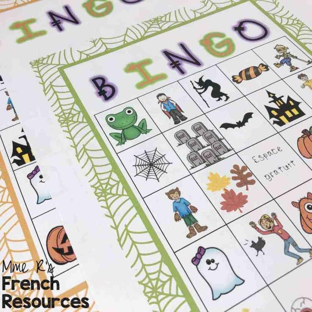 French-halloween-bingo-game