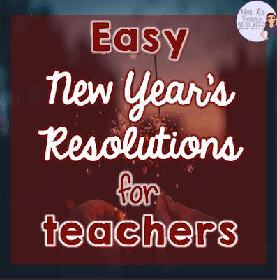 New Year's Resolutions for teachers