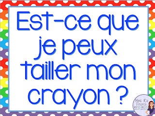 Classroom expression posters for French class help students stay in the target language.