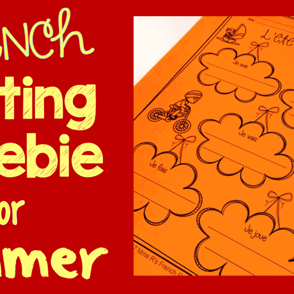 FREE French summer writing activity