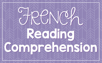 French reading comprehension activities