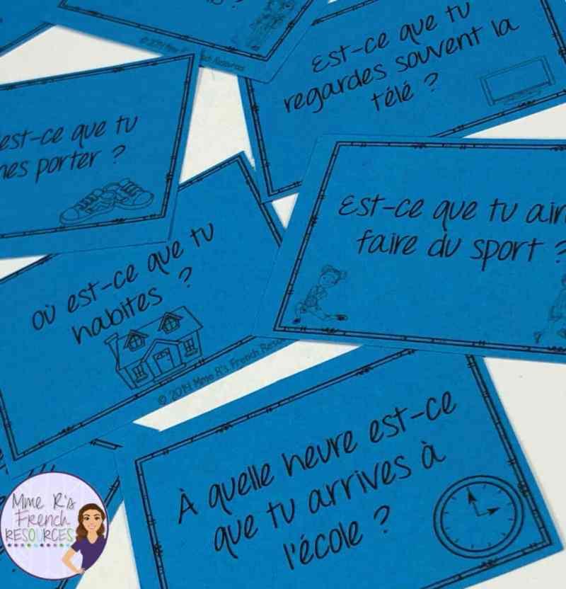 French speaking activity regular -er verbs