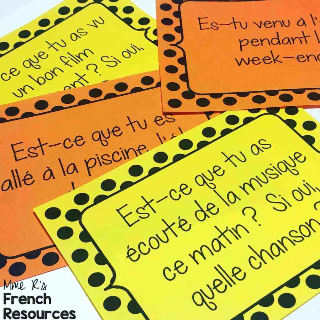 French-passé-composé-speaking-activity
