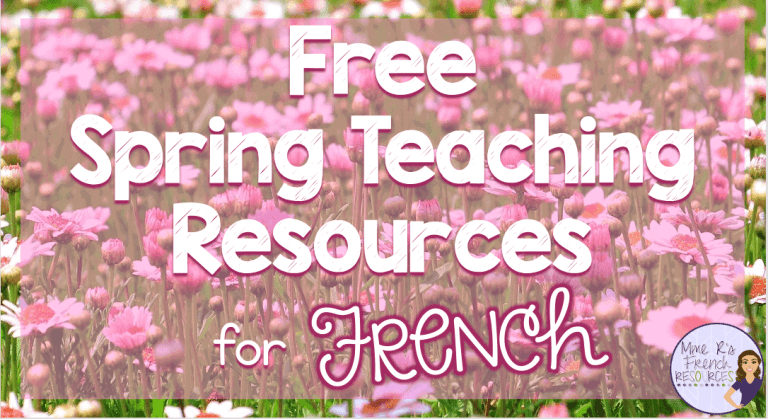 French-spring-teaching-resources
