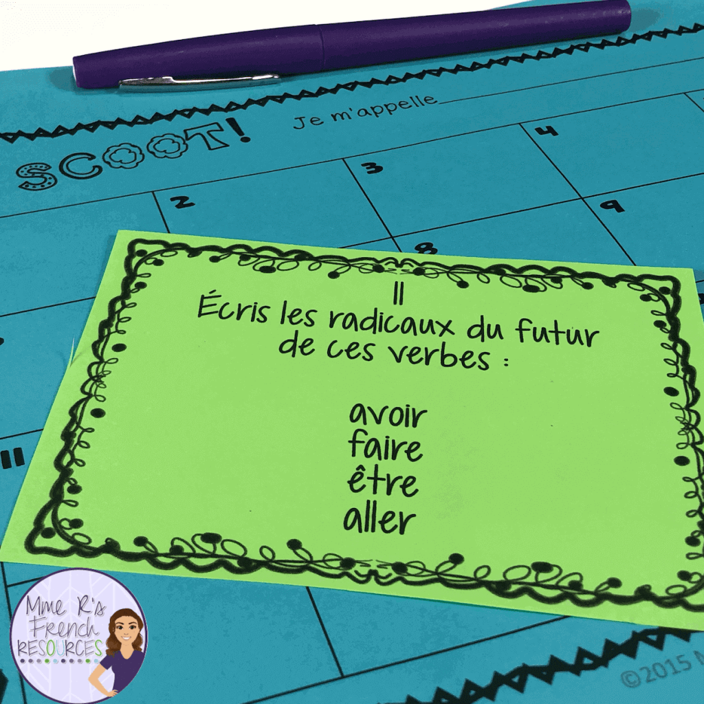 French-futur-simple-task-cards