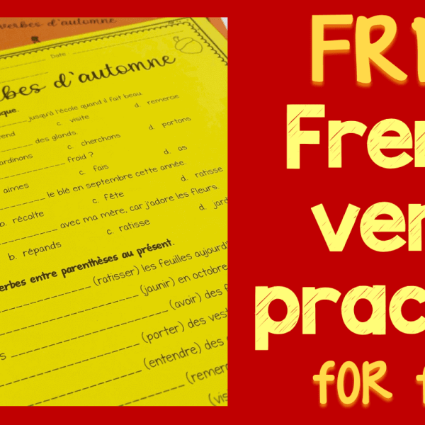 French verb worksheets for fall