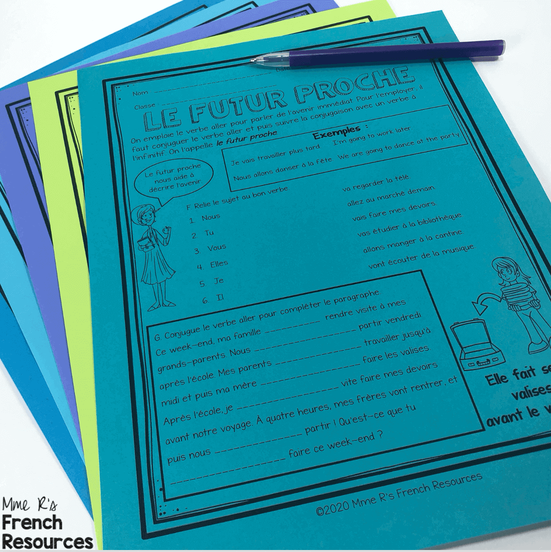 small resolution of French worksheets for vocabulary and verbs   Mme R's French Resources