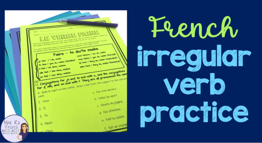 French-irregular-verb-worksheets
