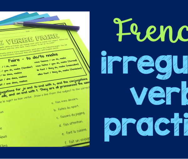 Teaching French irregular verbs