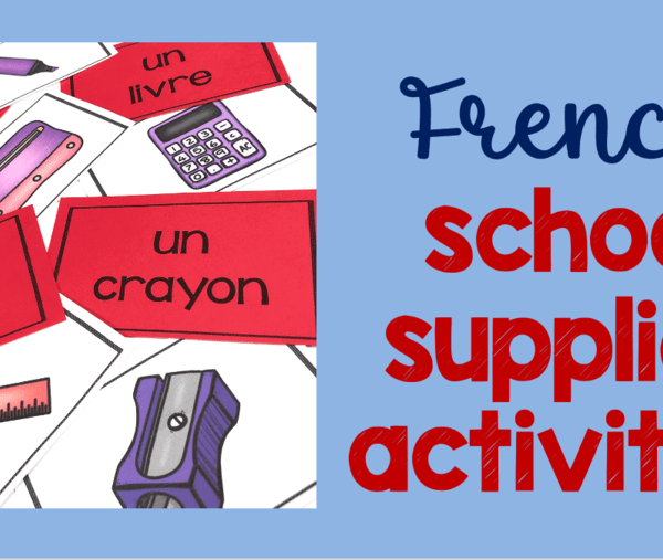 French school supplies teaching resources