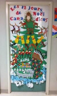 Fun with math manipulatives & Christmas door decorating