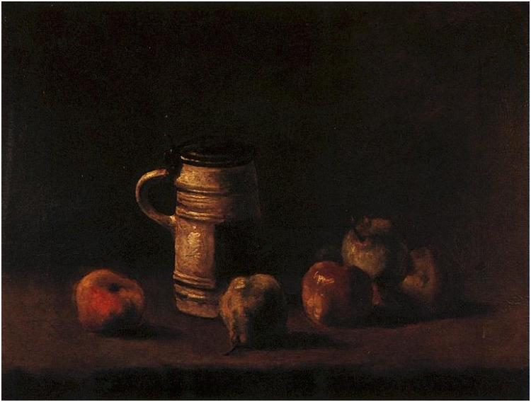 Still Life with Beer Mug and Fruit, Vincent Van Gogh, Von der Heydt-Museum