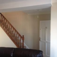 Open Plan Staircase In Living Room Pottery Barn Paint Ideas Painting An And Gleadless M Job Complete