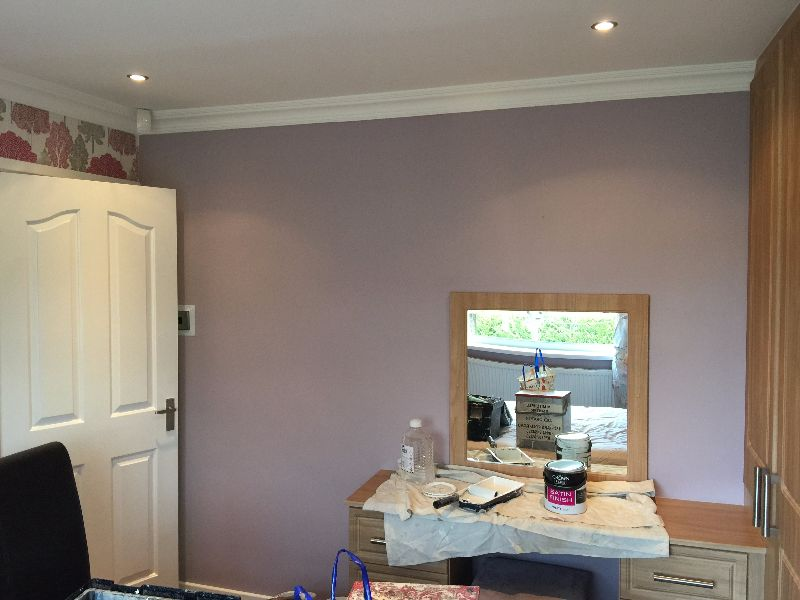 Redecorating a bedroom in Chapeltown  M Mitchell Painter  Decorator