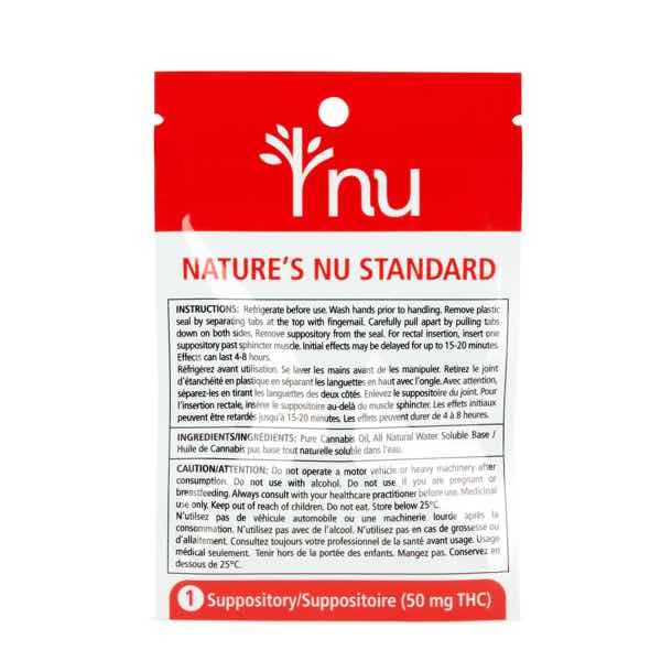 nu Suppository - 50mg THC