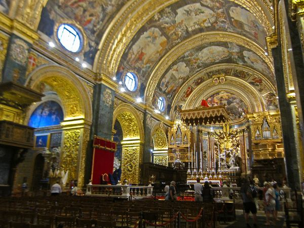 Valletta Malta Caffe Cordina and St Johns CoCathedral