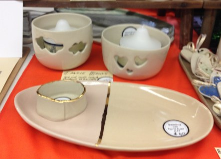 Also new: cut-out bowls and lustred serving pieces
