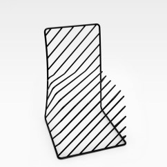 Black Wire Chair High For Elderly Minimal By Nendo