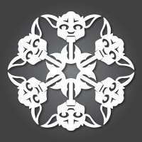 Make your own Origami Star Wars snowflakes
